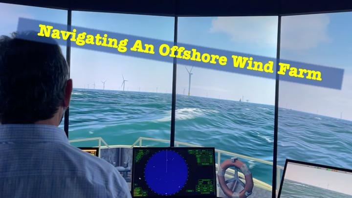 Navigating an Offshore Wind Farm